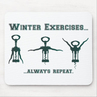 Funny Winter Exercises Mouse Pad
