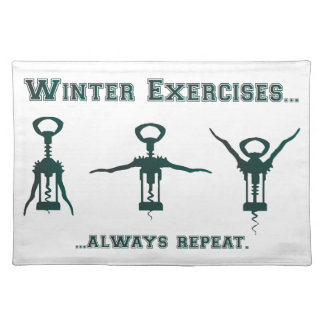 Funny Winter Exercises Placemat