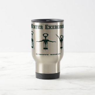 Funny Winter Exercises Travel Mug