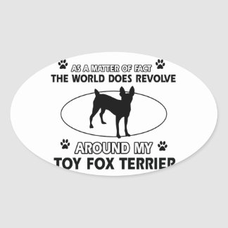Funny wire for terrier designs oval sticker