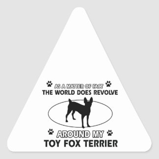 Funny wire for terrier designs triangle sticker