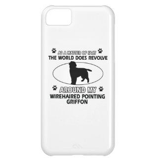 Funny wirehaired pointing griffon designs case for iPhone 5C