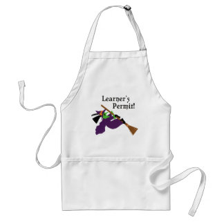 Funny Witch Flying Adult Apron