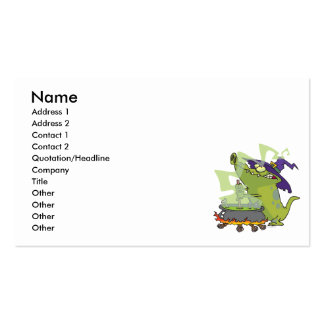 funny witch gator cooking cauldron business card templates