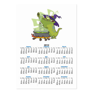 funny witch gator cooking cauldron business card