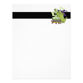 funny witch gator cooking cauldron letterhead
