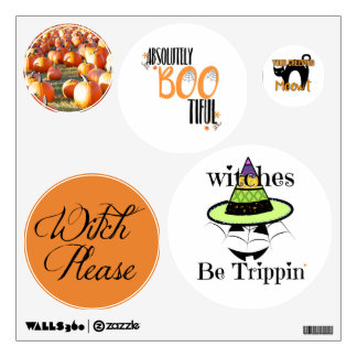 funny witch halloween saying sticker pack