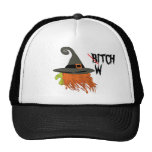 funny witch,halloween trucker hat