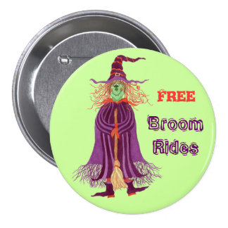 Funny Witch Pin