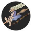 Funny Witch with Wart Sticker sticker