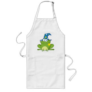 Funny Wizard Frog Long Apron