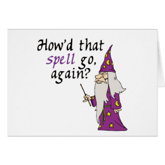 Funny Wizard Greeting Cards