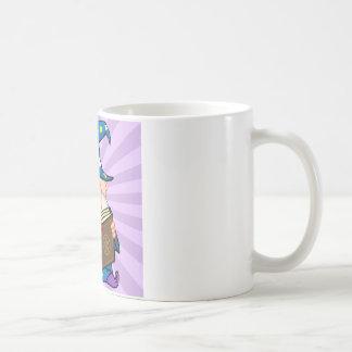 Funny Wizard Holding A Magic Book Coffee Mug