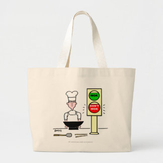 Funny Wok Cartoon Grocery Tote