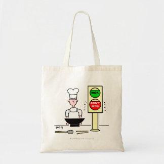 Funny Wok Cartoon Grocery Tote Budget Tote Bag