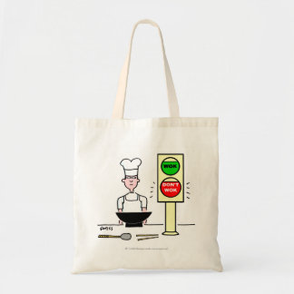 Funny Wok Cartoon Grocery Tote Tote Bag