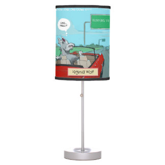 Funny Wolf From Virginia Table Lamp