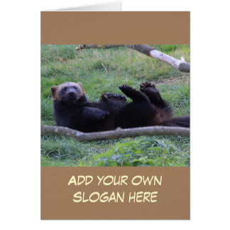 Funny Wolverine Photo to Customize Yourself Card