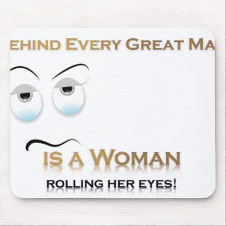 Funny Woman VS Great Man Mouse Pad