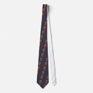Funny Wombat Playing Cello Cartoon Tie