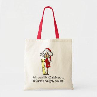 Funny Womens Christmas Gift Budget Tote Bag