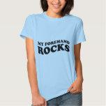 Funny Womens Tennis Tshirt : My Forehand Rocks