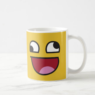 Funny Wonky Eyed Whatever emoji Coffee Mug