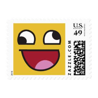 Funny Wonky Eyed Whatever emoji Postage