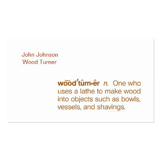 Funny Woodturner Business Cards Template