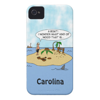 Funny Woodturner Cartoon Custom iphone 4g Case