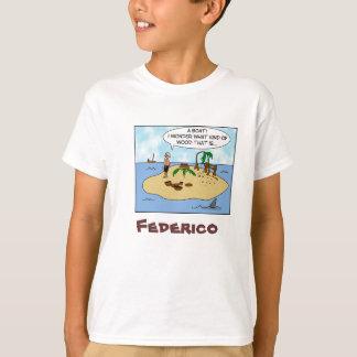 Funny Woodturner Cartoon Custom Name Kids T Shirt