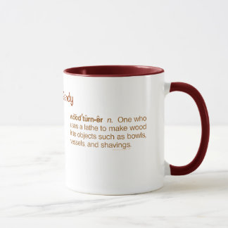 Funny Woodturner Definition Woodturning Custom Mug