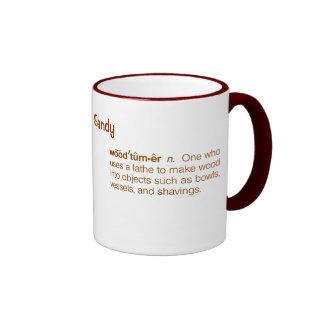 Funny Woodturner Definition Woodturning Custom Mug