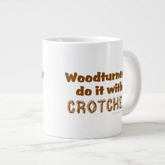 Funny Woodturners Do It With Crotches Custom Large Coffee Mug
