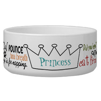 Funny Word Art Personalized Evil Cat Bowl
