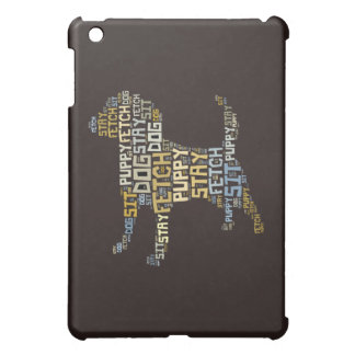 Funny Word Cloud Dog Sit Stay Fetch Commands Puppy iPad Mini Case