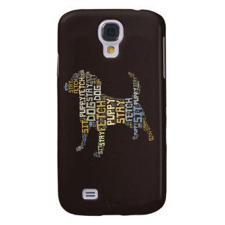 Funny Word Cloud Dog Sit Stay Fetch Galaxy S4 Case