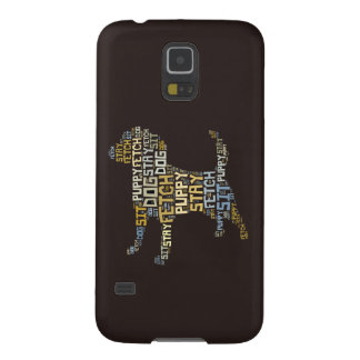 Funny Word Cloud Dog Sit Stay Fetch Galaxy S5 Cover