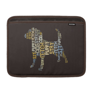 Funny Word Cloud Dog Sit Stay Fetch Sleeves For MacBook Air