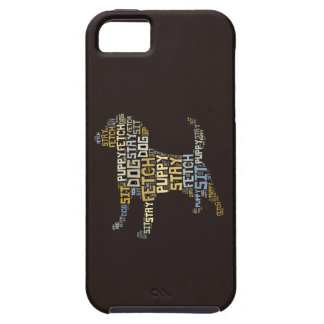 Funny Word Cloud Dog Sit Stay Fetch iPhone 5 Covers