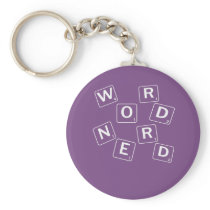 Funny word nerd for scrabble and crossword lovers keychain