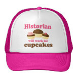 Funny Work For Cupcakes Historian Hat