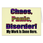 Funny Work Is Done T-shirts Gifts Greeting Cards