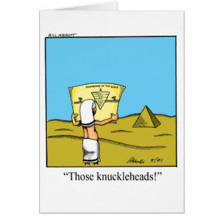 Funny Work Related Humor Greeting Card