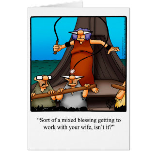 "Funny ""Working Couple"" Humor Greeting Card"