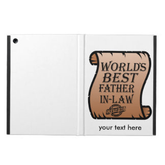 Funny Worlds Best Father-in-law Certificate iPad Air Case