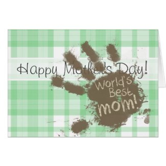 Funny World's Best Mom; Green Plaid