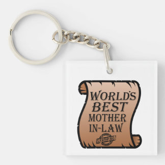 Funny Worlds Best Mother-in-law Certificate Keychain