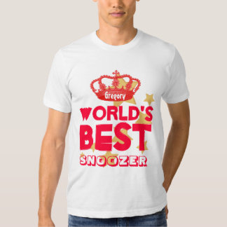 Funny World's Best SNOOZER Red Crown and Stars V26 Tshirt
