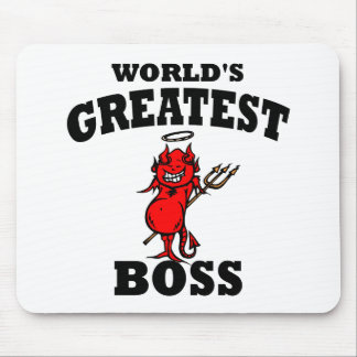 Funny World's Greatest Bos Mouse Pad